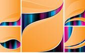 Orange hintergrund kollektion — Stockvektor