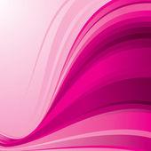 Pink ribbon wave — Stock Vector