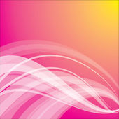 Pink and yellow background with silky wave — Stock Vector