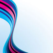 Pink and blue ribbon wave — Wektor stockowy