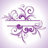 Purple swirl frame — Stock Vector