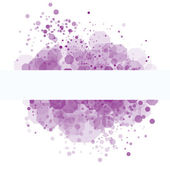Purple random transparent cells — Stock Vector