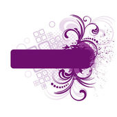 Purple frame with floral elements — Stock Vector