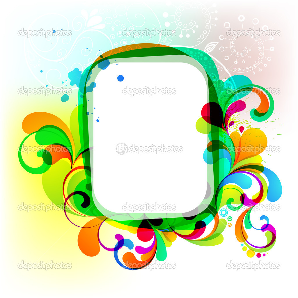 EPS10. Editable colorful frame for your design — Stock Vector #6920493