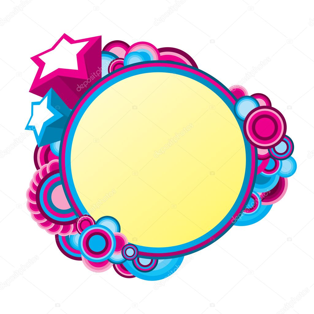 Colorful frame for your message — Stock Vector #6926555