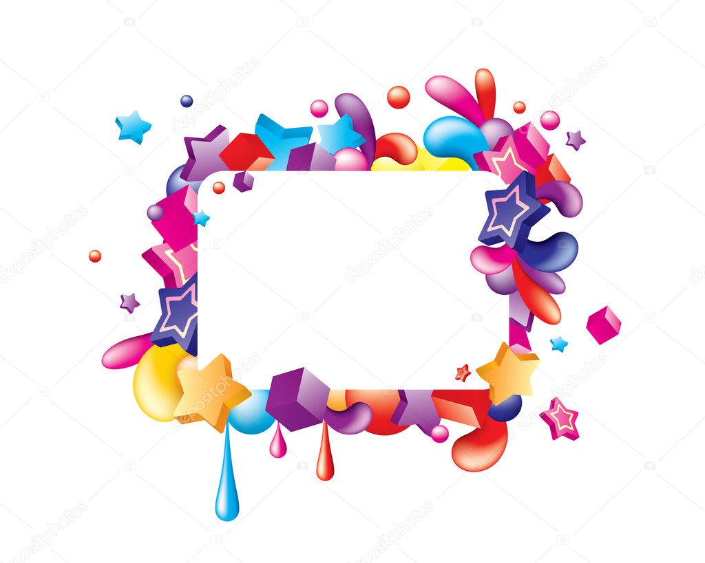 Colorful frame — Stock Vector © Victor_Tongdee #6926676