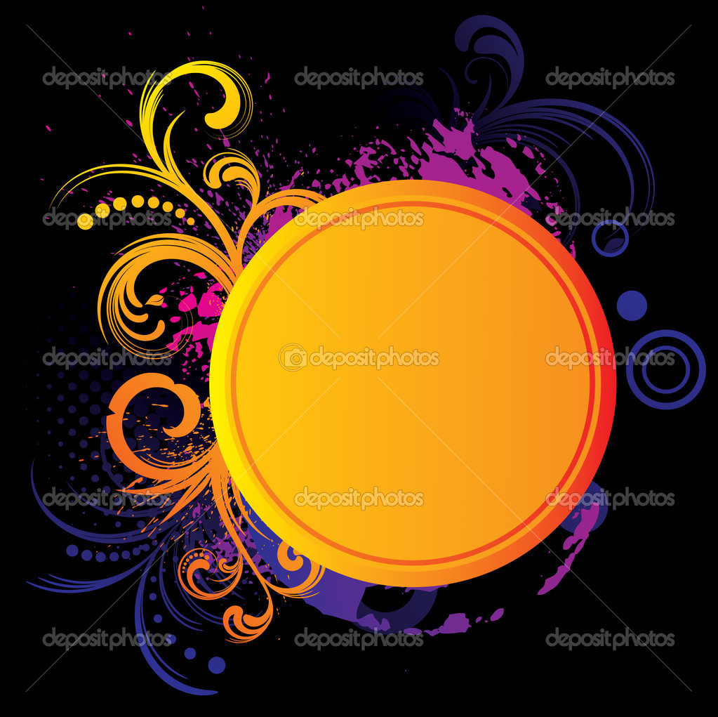Colorful grunge frame with space for your message  Stock Vector #6926777