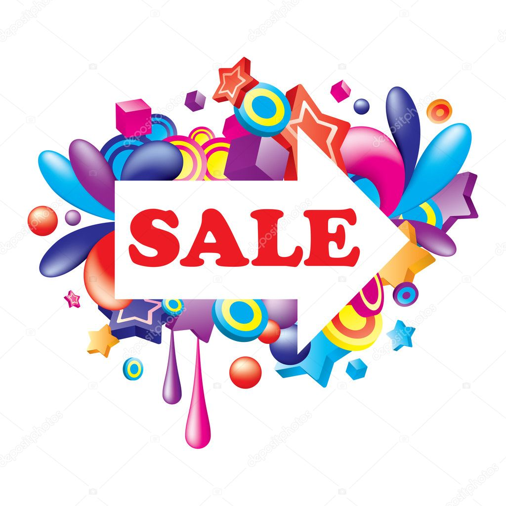  Vector. Colorful Sale illustration. All elements are separated and can be used to make new composition.   Stock Vector #6927011