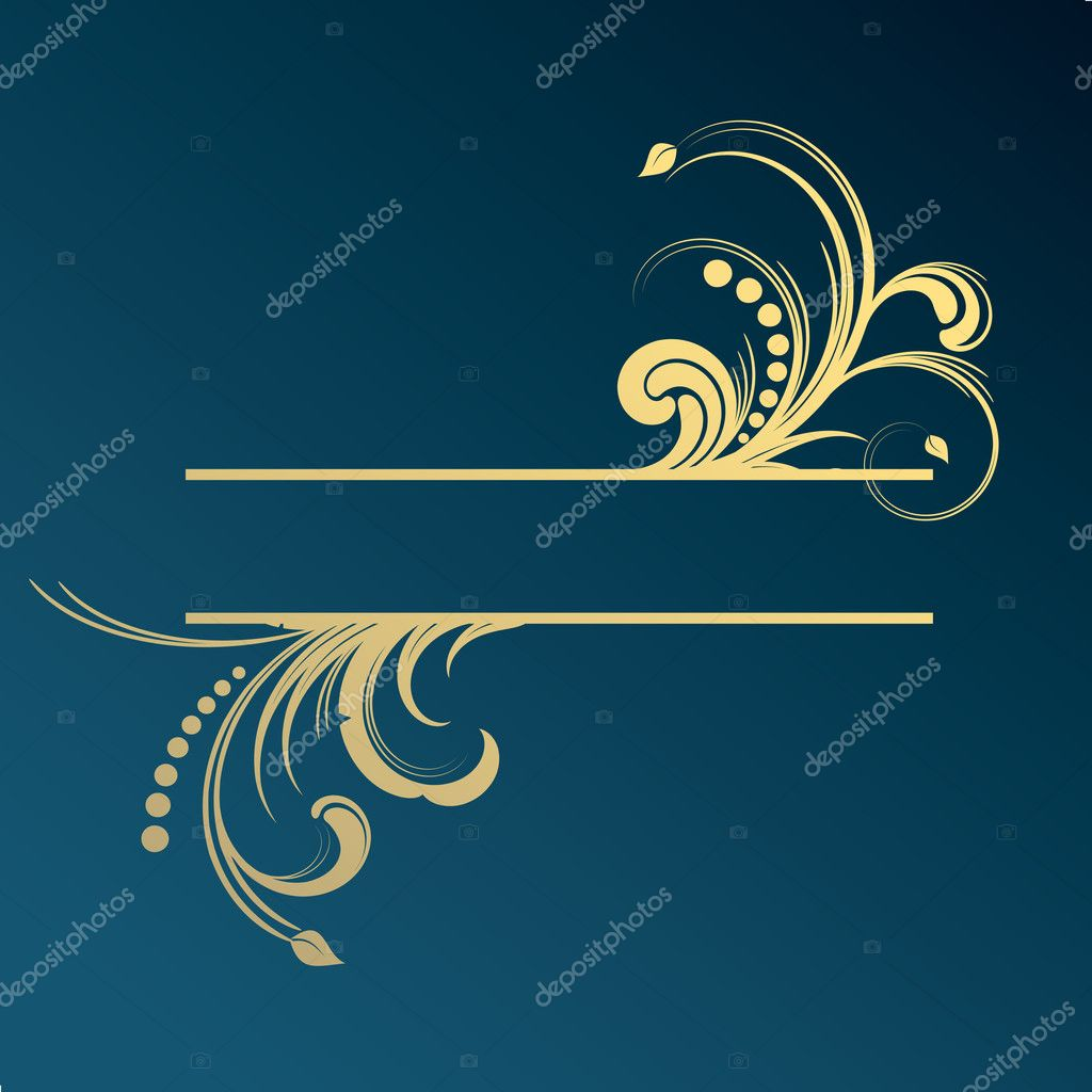 Luxury frame for your text — Stock Vector #6927674