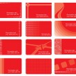 Red business cards set — Stock Vector