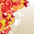 图库矢量图片: Red and yellow graphic template