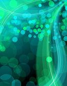 Lesklé pozadí v zelené, žluté a modré barvy — Stock vektor