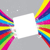 квадрат с ярким полосатый фон — Cтоковый вектор