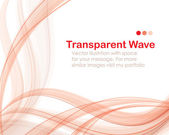 Transparent wave bg deluxe — Stock Vector