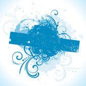 Swirl grunfe rectangle — Stock Vector
