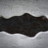 Curved concrete plate on metal background texture — Stock Photo