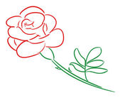 Illustration of red rose — Stock Photo