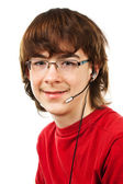 Teenager with glasses — Stock Photo