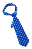 Blue striped necktie — Stock Photo