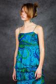 Girl in a beautiful dress — Stock Photo