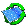 Renewable energy solar panels — Foto de Stock