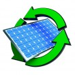 Renewable energy solar panels — Stockfoto