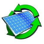 panneaux solaires énergie renouvelable — Photo