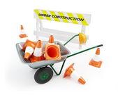 Wheelbarrow under construction — Stock Photo