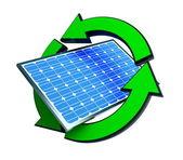 Renewable energy solar panels — Stock Photo