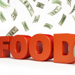 Increase in food prices — Stock Photo