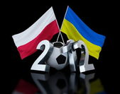 Europe on football 2012 Ukraine and Poland — Stock Photo