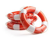 Life Buoy on a white background — Stock Photo