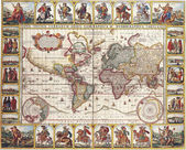 High-quality Antique Map - Nicolas Visscher, 1652 — Stock Photo