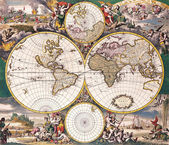 High-quality Antique Map - Frederick De Wit, 1668 — Stock Photo