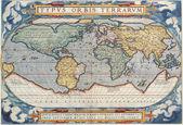 高品质的古董地图 — 图库照片