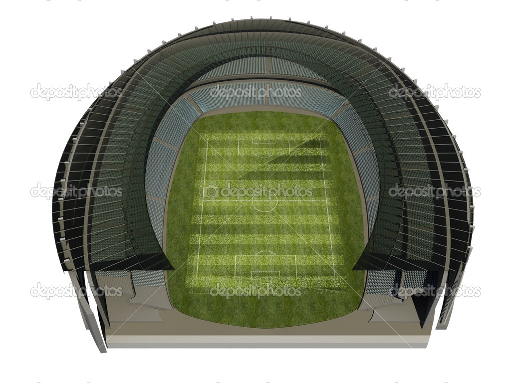Structure of the Stadium with Soccer Field — Stock Photo #6822168