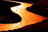 Golden river — Stock fotografie