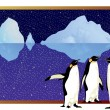 Arctic penguins — Stockvectorbeeld