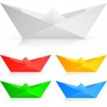 Paper ships. — Stock Vector