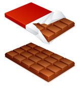 Chocolate bar. — Stock Vector