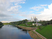 View on Vitebsk and West Dvina river — Stock Photo