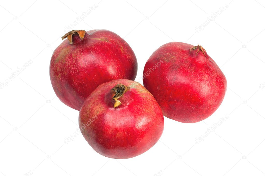 Pomegranates isolated on white background — Stock Photo #6975749