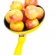 Yellow pan with apples - Foto de Stock