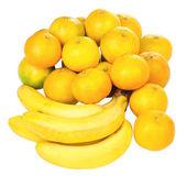 Mandarin and banana — Stock Photo