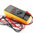Stock Photo: Multimeter over white