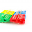 Color clothes-pegs — Stock Photo #7153680