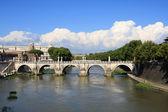Sant'Angelo bridge, Rome — Stock fotografie
