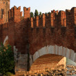 The Castelvecchio Bridge, Verona - Stock Photo