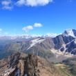 Stock Photo: View from the top of mount Cheget