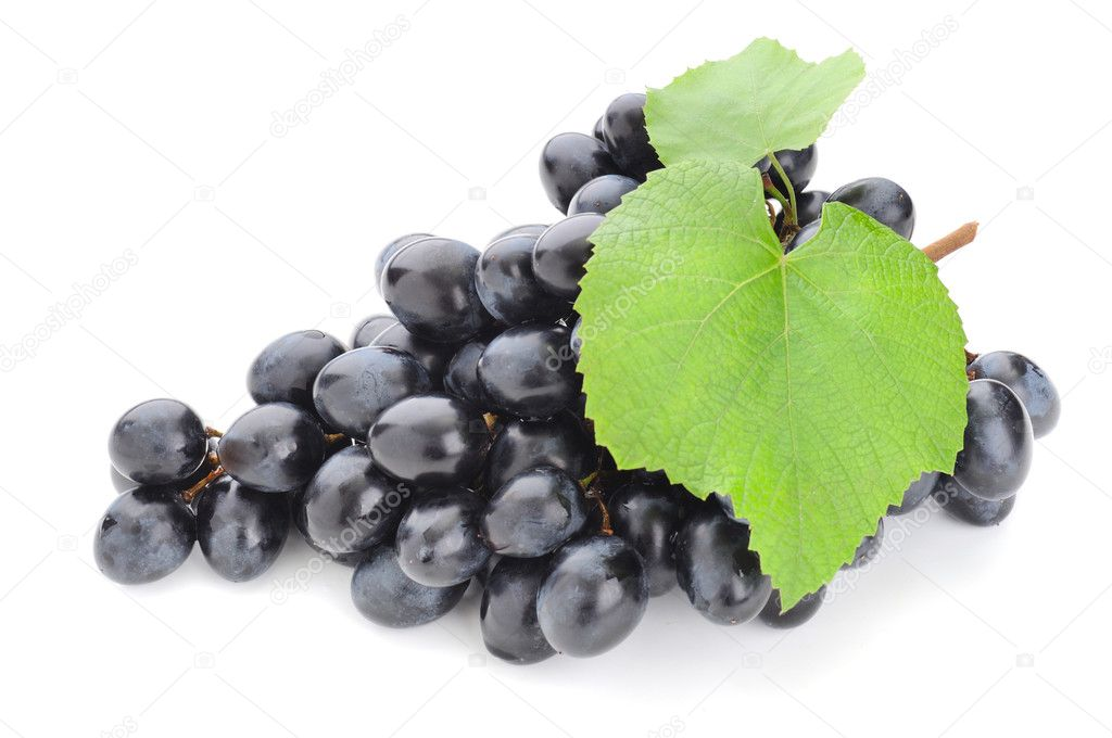 Green freshness grape on the white background  Stock Photo #6839359